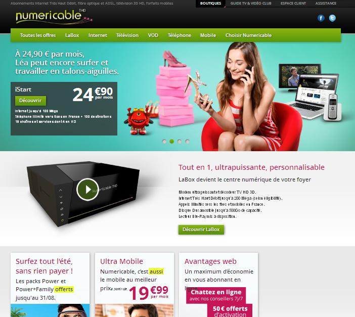 offres numericable offres abonnement internet internet pas cher. Black Bedroom Furniture Sets. Home Design Ideas