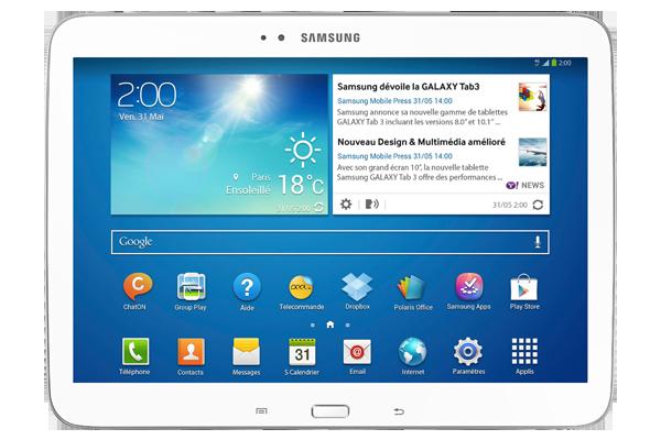 Samsung Galaxy Tab Blanche