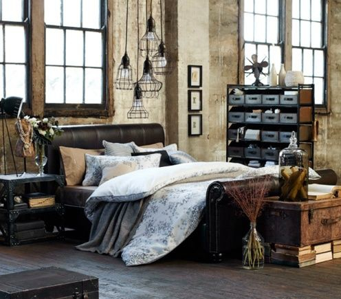 style industriel comment d corer sa chambre. Black Bedroom Furniture Sets. Home Design Ideas