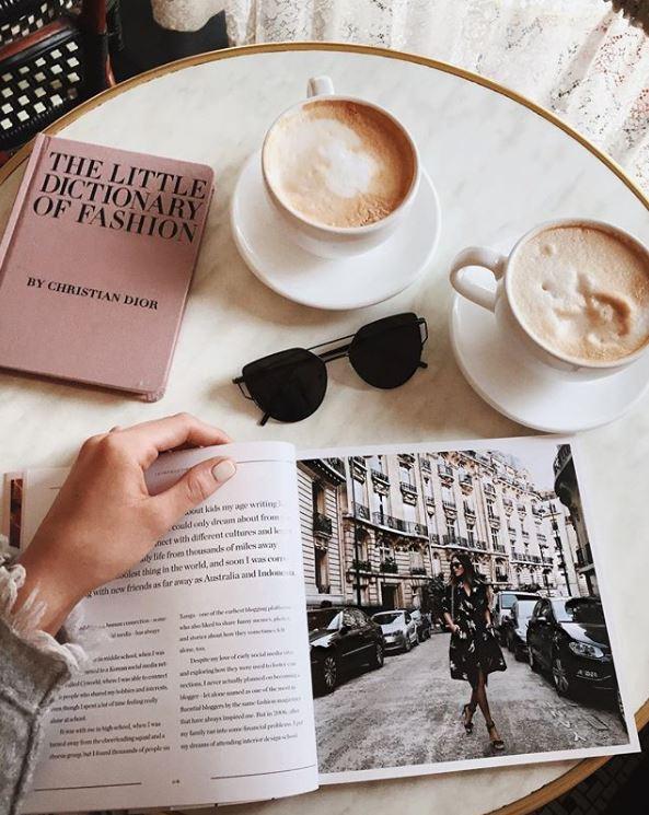 café flat lay