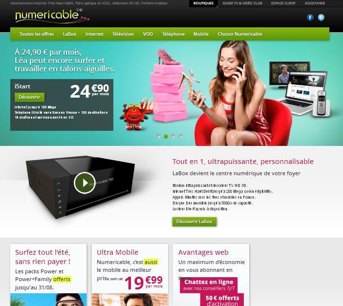offres abonnement internet