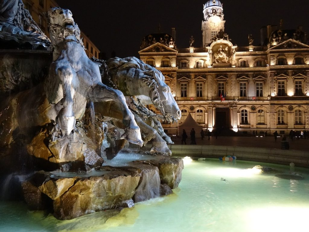place des terreaux fontaine Bartholdi