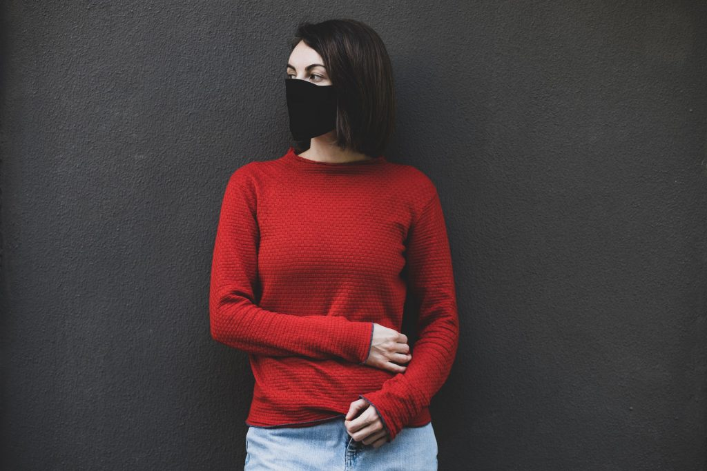 pull cachemire rouge femme